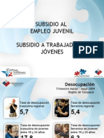Subsidios a jóvenes