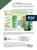 Notícia SEMANA DA CIÊNCIA E TECNOLOGIA 2013
