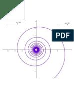Curvas polares VIII - Espiral hiperbólica
