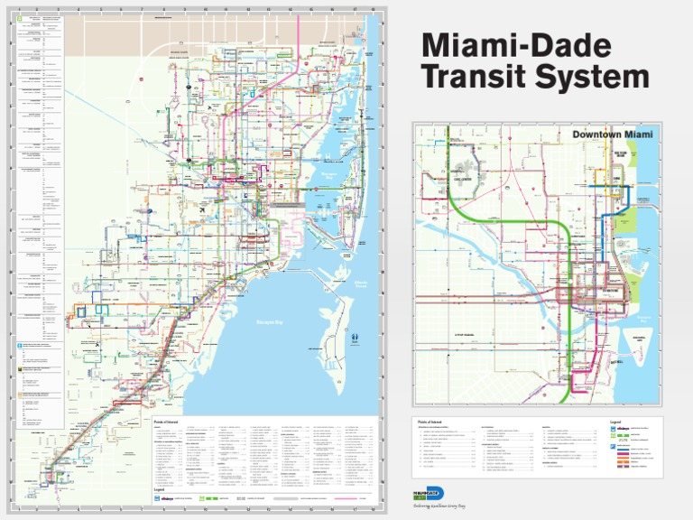 Miami Dade Transit Route Map Miami Dade County Public