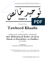 Tawheed-Khaalis Part-2 by Imaam-Badee-Ud-Deen