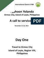 D3780 Soup Kitchen in Ormoc City-Oplan Yolanda