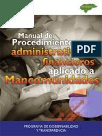 Manual de Procedimientos Administrativos y Financieros de Ma