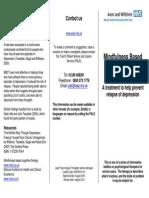 Mindfulness Based Cognitive Therapy (MBCT) Leaflet