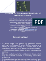 Essential Oil Composition of the Fruits of Galium Tricornutum