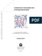 Sandeep Krishna - PhD Thesis - August 2003 - Formation and Destruction of Autocatalytic Sets in an Evolving Network Mode