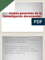 Etapas generales de la investigación documental