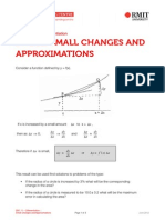 Small Changes and Approximations