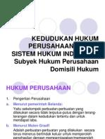 kedudukan hukum perusahaan