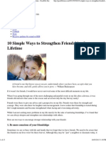 10 Simple Ways to Strengthen Friendships for a Lifetime - Goodlife Zen