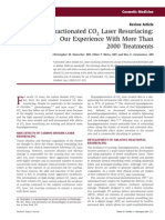 Fractionated CO2 Laser Resurfacing Our Experience With More Than 2000 Treatments