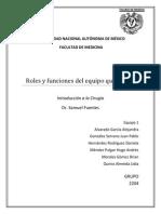 ROLES Y FUNCIONES DEL EQUIPO QUIRÚGICO (1)