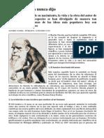 Lo Que Darwin Nunca Dijo