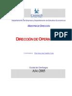 Direccion de Operaciones- Ana Lilia Castillo Coto
