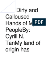 The Dirty and Calloused Hands of My PeopleBy