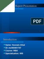 Internship Report Presentation