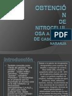 Obtención de nitrocelulosa a partir de cascara e naranja (1)
