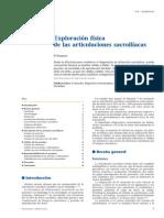 2011 Exploración física de las articulaciones sacroilíacas. EMC