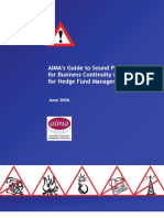 AIMA's Guide to Sound Practices for Business Continuity Management for Hedge Fund Managers June 2006
