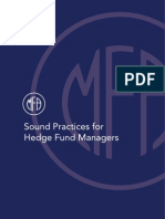 Managed Fund Association's Sound Practices for Hedge Fund Managers 2007