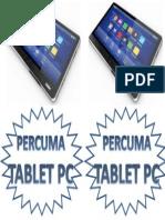 Percuma Tablet Pc