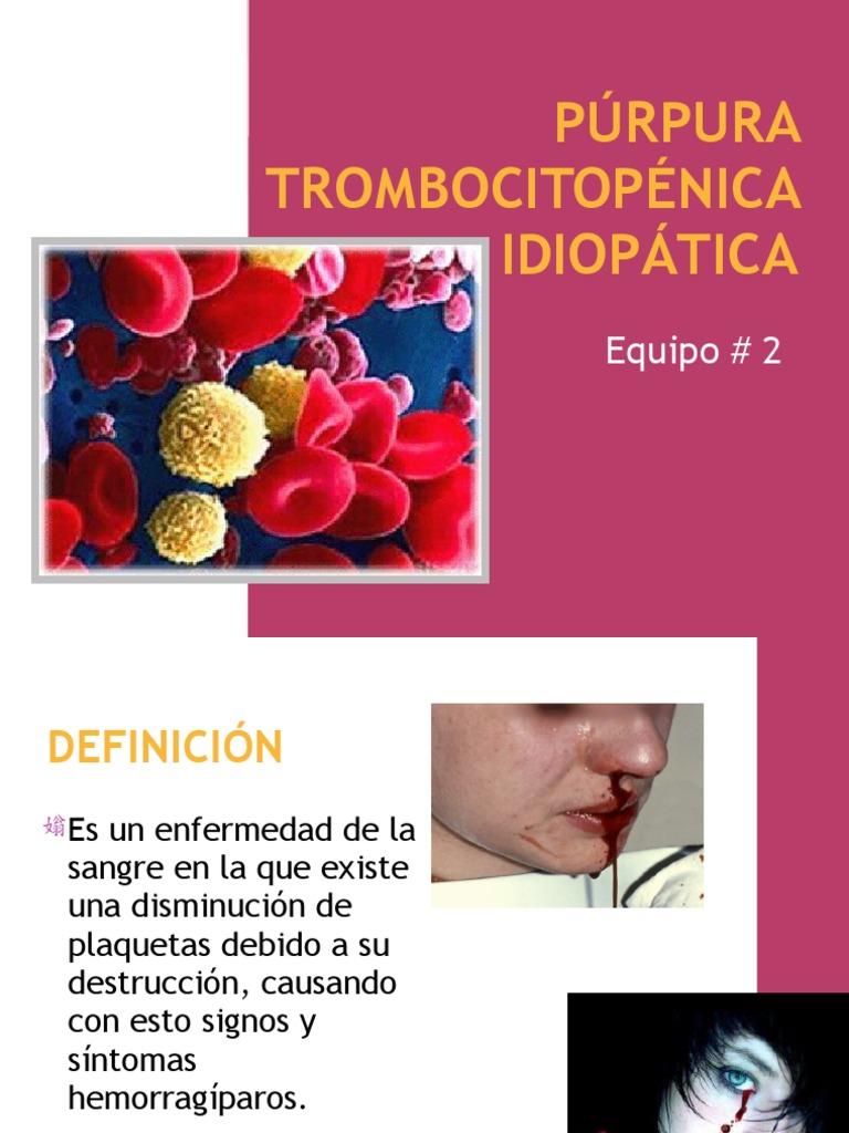 enfermedad purpura sintomas fotos