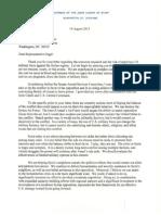 Letter for Rep Engel 19 Aug 13