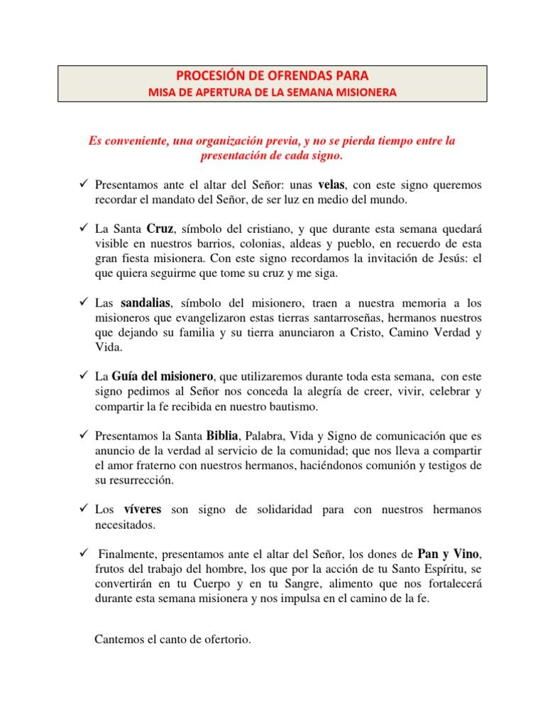 Para De Semana Procesion 2013 Misionera Ofrendas TKclFJ31