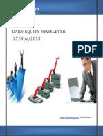 Daily Equity Report by TheEquicom.com 27-Nov-13