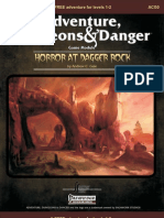 Horror at Dagger Rock Cover