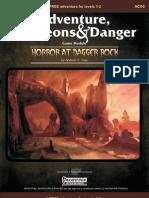 Horror at Dagger Rock Cover