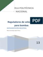 Bombas y Reguladores de Velocidad