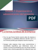 Unidad 7 Organización y administración del proyecto