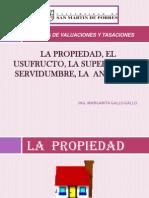 La Propiedad, El Usufructo,Superficie,Servidumbre y Anticresis