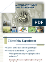 method of presenting experiment for form 6