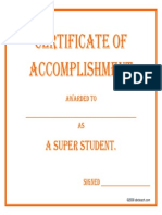 certificateofaccomplishment superstudent
