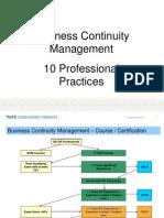 10 Professional Practices - Prepare BCM Certification
