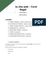 Cerinte Site Web 09-10-2013 Versiunea 1