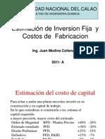 Estimacion de Inversion Fija