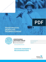 Responsible Business Forum on Sustainable Development 2013 - Outcome statement and recommendations