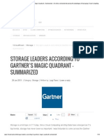 Storage Leaders according to Gartner's Magic Quadrant – Summarized - An online community discussing the advantages of leveraging Cloud Computing