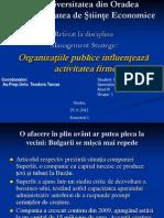 Mate Catalin - Organizatiile Publice Influenteaza Activitatea Firmelor