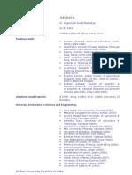 Dr.R.A.Mashelkar Bio-Data
