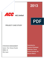 ACC Cement SM Group Project XMBA 24
