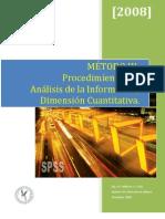 Morales-Cortes, P (2008) - Procedimientos de Analisis de la Informacion, Dimension Cuantitativa.