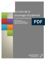 La crisis de la sociología occidental