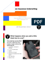 Data Driven Insurance Underwriting