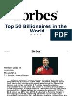 2009 Top 50 Billionaires