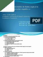 Contribuţia activităţilor de limba engleză la dezvoltarea proceselor cognitive a preşcolarului