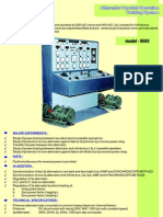 Alternator Synchronizing panel with protection